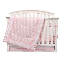 Trend Lab Pink Sky 3 pc Crib Bedding Set