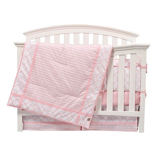 Trend Lab Pink Sky 3 Pc Crib Bedding Set