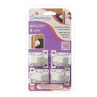Dreambaby 4-pk. Mag Lock Magnetic Lock Cabinet & Drawer Locks