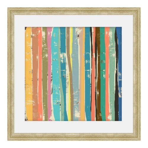 """Stems on Cream II"" Framed Canvas Wall Art"