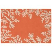 Liora Manne Capri Coral Border Indoor Outdoor Rug