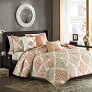 Madison Park Montecito 6 pc Quilted Coverlet Set