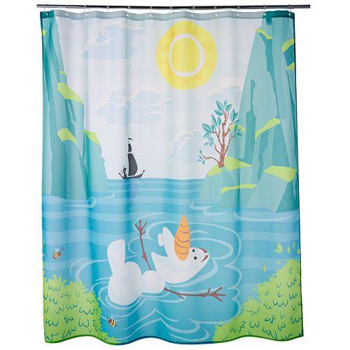 Disneys Frozen Olaf Fabric Shower Curtain