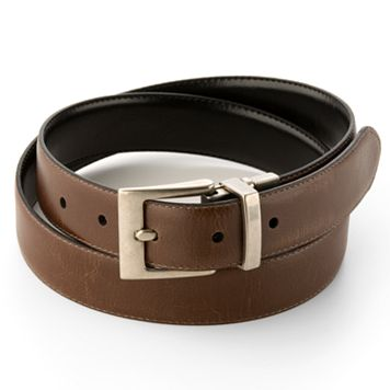 Chaps Reversible Nickel Buckle Belt