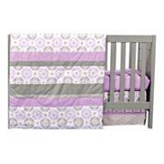 Trend Lab Medallion 3 pc Crib Bedding Set