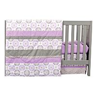 Trend Lab Medallion 3 pc Crib Bedding Set