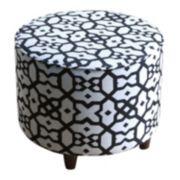 SONOMA life + style® Geometric Round Ottoman