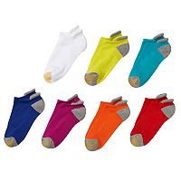 GOLDTOE 7 pkVacation Picot Low Cut Liner Women's Socks