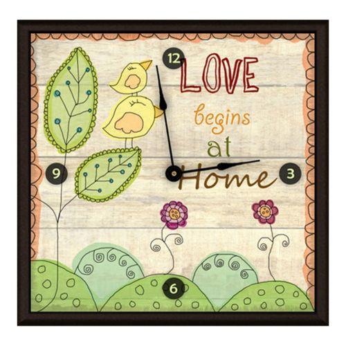 Love At Home Art Wall Clock