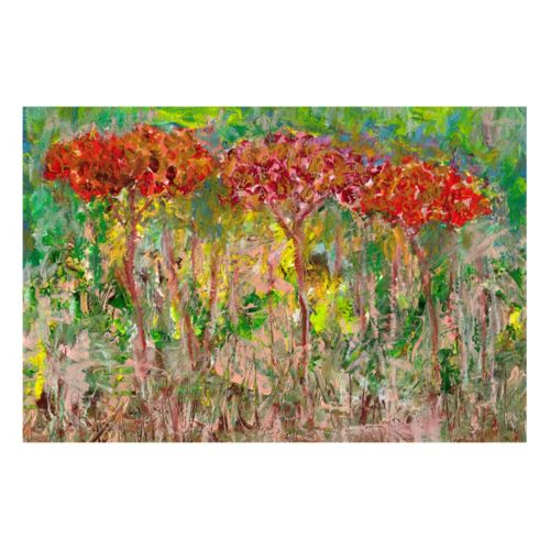 ''Red Trees'' Canvas Wall Art