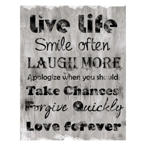 """Live Life"" Canvas Wall Art"