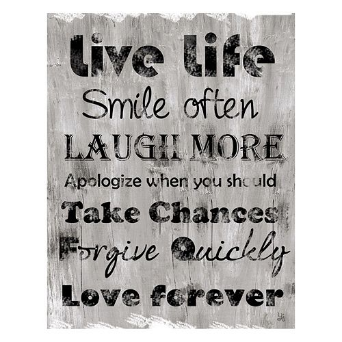 """Live Life"" Canvas Wall Art"