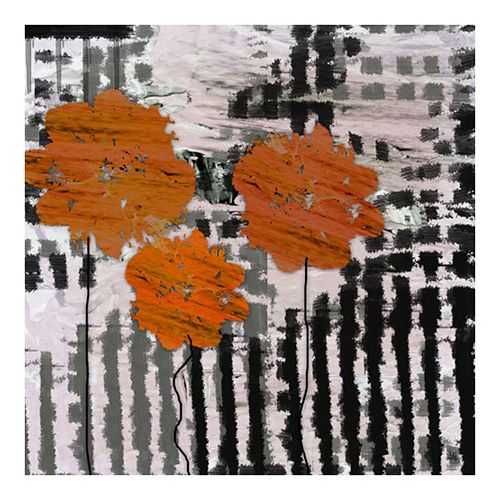 ''Orange Focus'' Canvas Wall Art