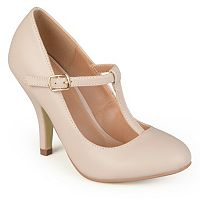 Journee Collection Liza Women's Matte T-Strap High Heels