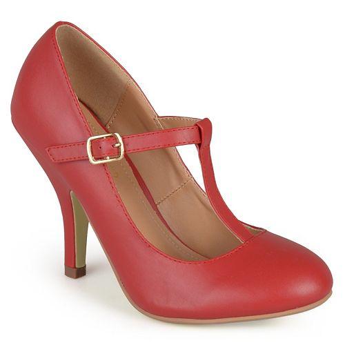 Journee Collection Liza Women's Matte T-Strap High Heels