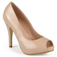 Journee Collection Lowis Women's Peep-Toe High Heels