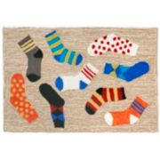 Liora Manne Frontporch Lost Socks Indoor Outdoor Rug