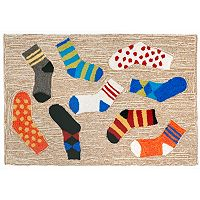 Trans Ocean Imports Liora Manne Frontporch Lost Socks Indoor Outdoor Rug