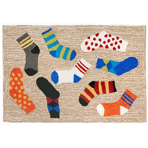 Liora Manne Frontporch Lost Socks Indoor Outdoor Rug