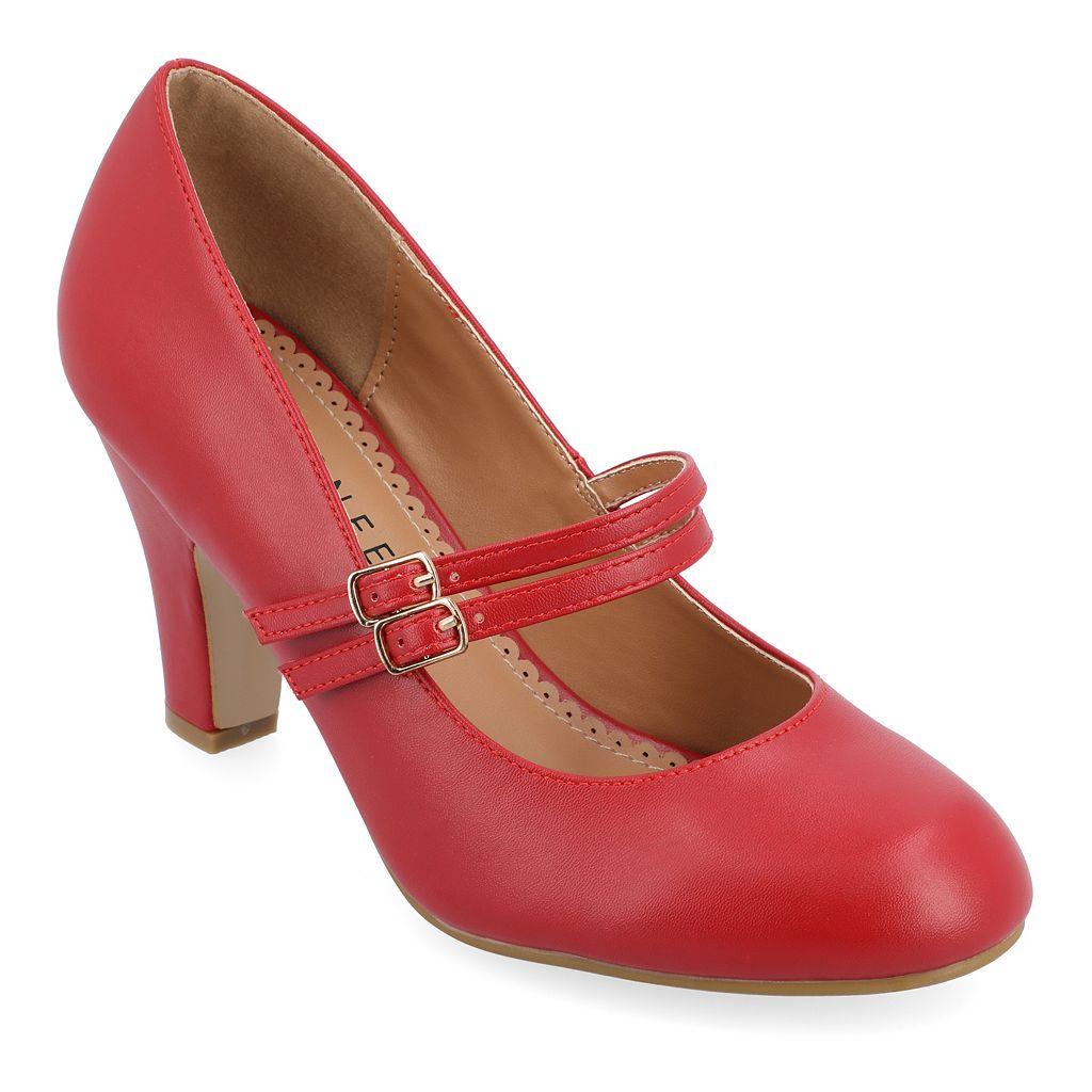 Journee Collection Windy Women's Matte Mary Jane High Heels