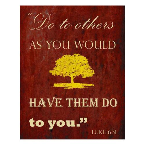 """Luke 6:31"" Canvas Wall Art"