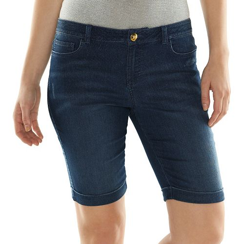 efaf5810c8 Juicy Couture Knit Jean Bermuda Shorts - Women s