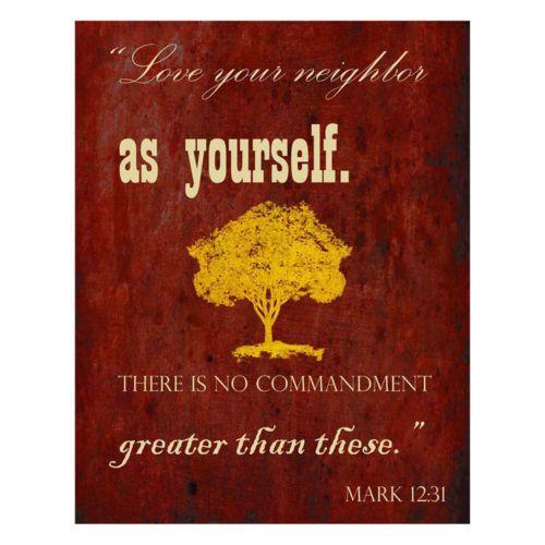 """Mark 12:31"" Canvas Wall Art"