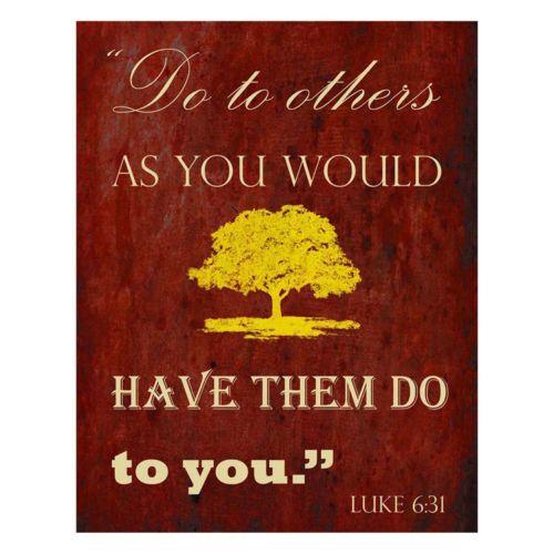 """""""Luke 6:31"""" Plaque Wall Art"""