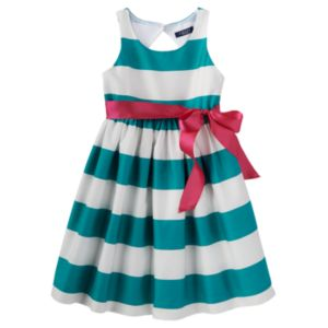 Toddler Girl Chaps Striped Taffeta Dress