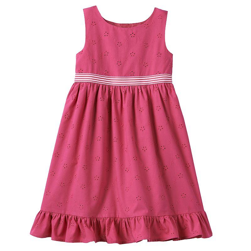 Toddler Girl Chaps Eyelet Dress