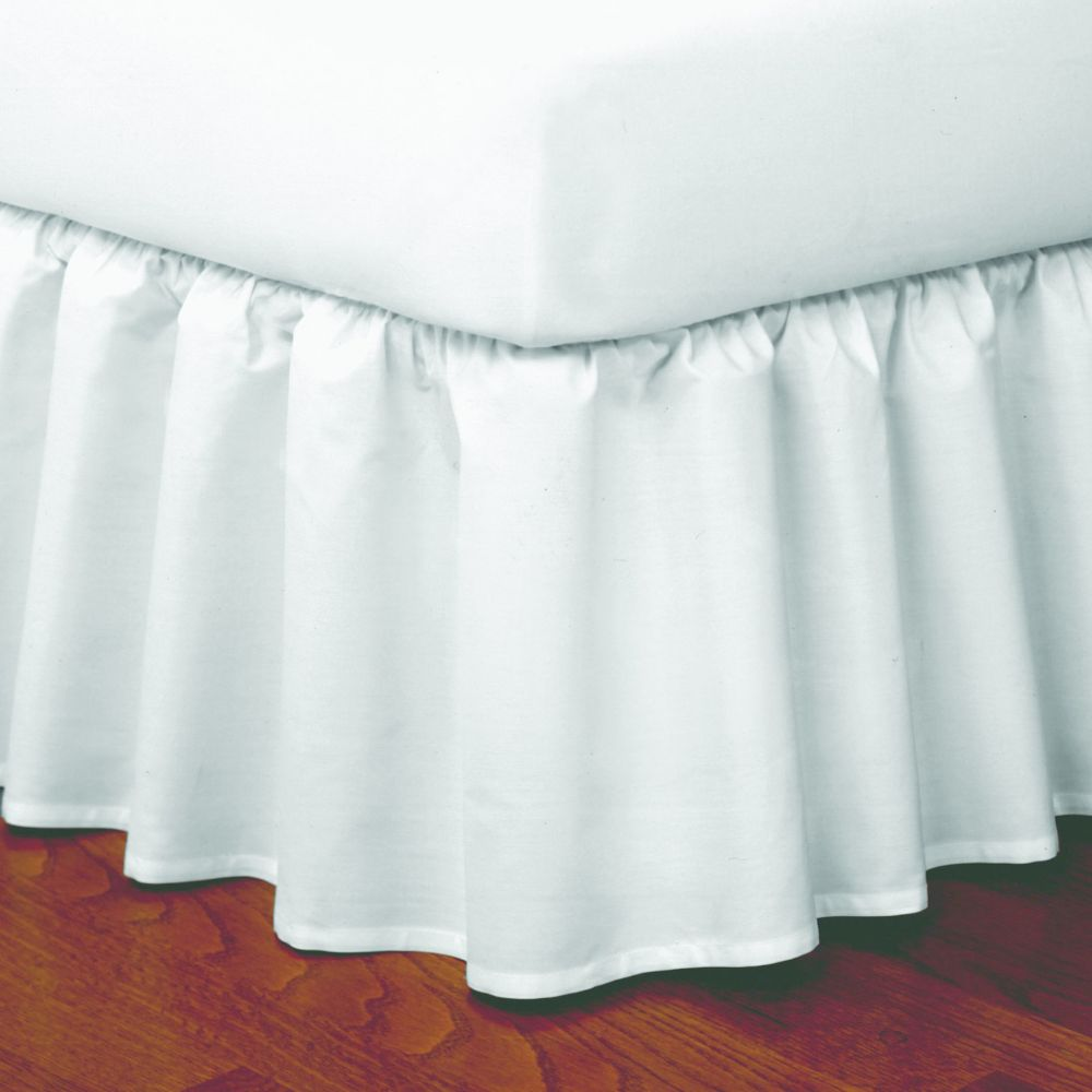 """good news"""" wrap-around ruffled bed skirt"""