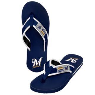 Men's Milwaukee Brewers Locker Label Contour Flip-Flops