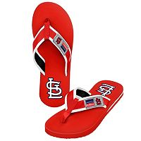 St. Louis Cardinals Locker Label Contour Flip-Flops - Men