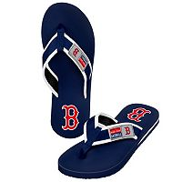 Boston Red Sox Locker Label Contour Flip-Flops - Men