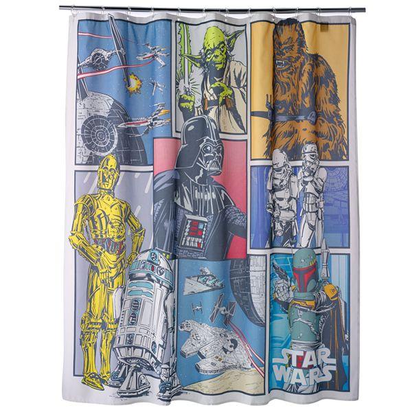 star wars home fabric shower curtain