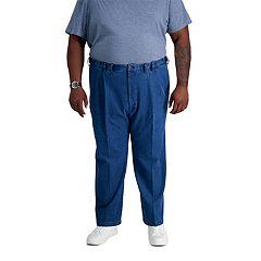 Big & Tall Haggar® Work to Weekend® Classic-Fit Pleated Denim Pants