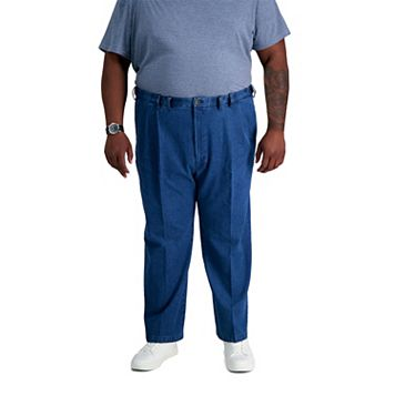 Big & Tall Haggar® Work to Weekend® Classic-Fit Pleated Denim Pants