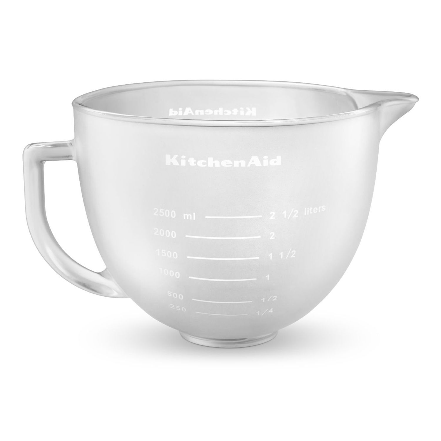 kitchenaid frosted covered glass bowl for 5qt bowllift stand mixers