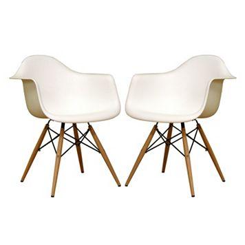 Baxton Studio 2-Piece Pascal Chair Set