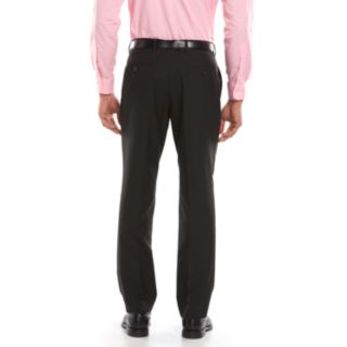 Men's Savile Row Modern-Fit Black Flat-Front Suit Pants