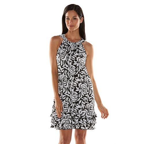 Msk Floral Sequin Shift Dress Women S