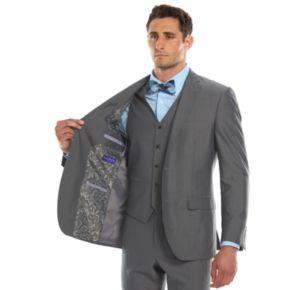 Men's Savile Row Modern-Fit Gray Suit Jacket