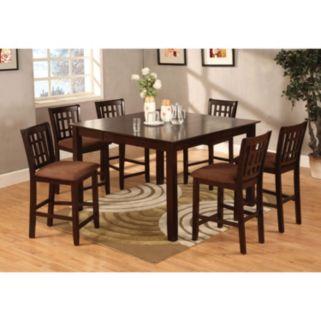 Venetian Worldwide Eleanor 7-piece Counter Height Dining Set