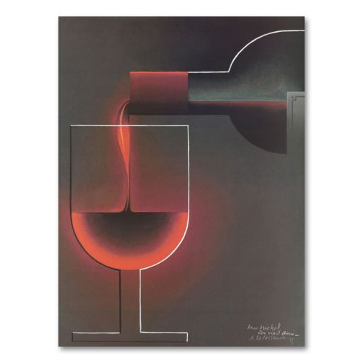 Red Wine Canvas Wall Art