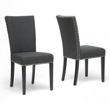 Baxton Studio 2-Piece Harrowgate Modern Dining Chair Set