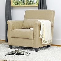 Baxton Studio Marquis Microfiber Club Chair