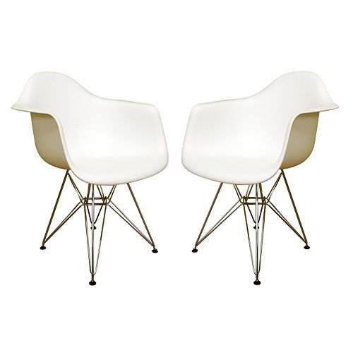 Stupendous Baxton Studio 2 Piece Dario Chair Set Forskolin Free Trial Chair Design Images Forskolin Free Trialorg
