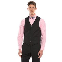 Men's Savile Row Modern-Fit Black Suit Vest