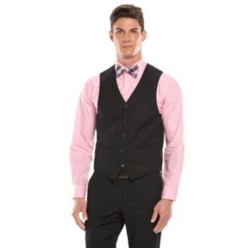Men's Savile Row Modern-Fit Black Suit Vest