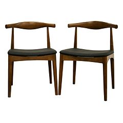 Baxton Studio 2 pc Sonore Mid-Century Dining Chair Set